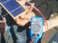 Test der PV-Zellen nach Aufbringen des Solar-Kits (Ultraleicht-Kit)
